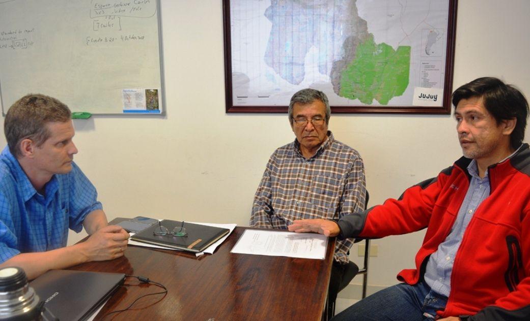 Secretario Soler, Director Chayle y Cabrera del Segemar analizan los estudios en marcha