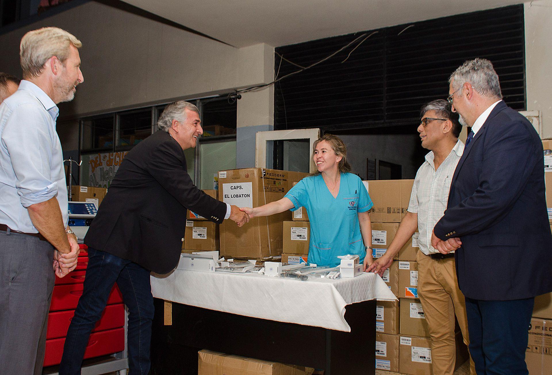 El Gobernador Gerardo Morales Entrega equipamiento en hospital Paterson de San Pedro.