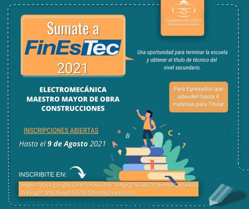 Inscripción para el Plan FinEsTec