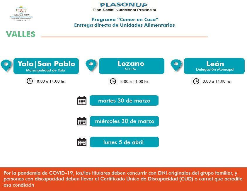 Desde hoy se entregan Unidades Alimentarias en Yala, Lozano y León