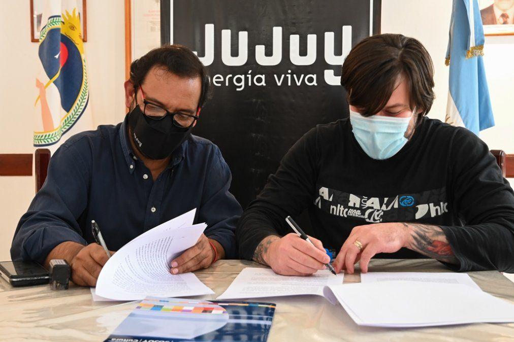 Fraile Pintado: Poncio y Medina Zar durante la rubrica