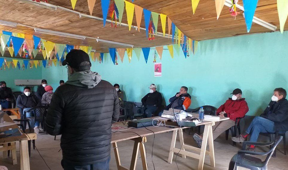 Reunión con comunidad de Santo Domingo