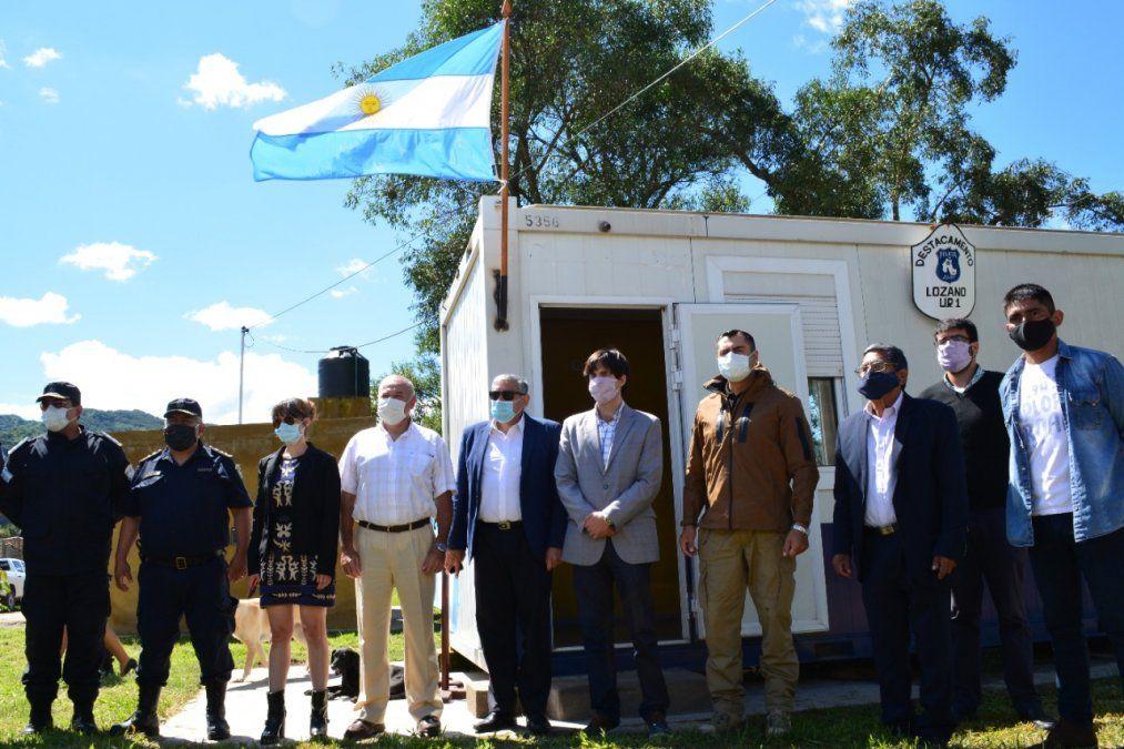 Se habilitó un nuevo destacamento policial en Lozano