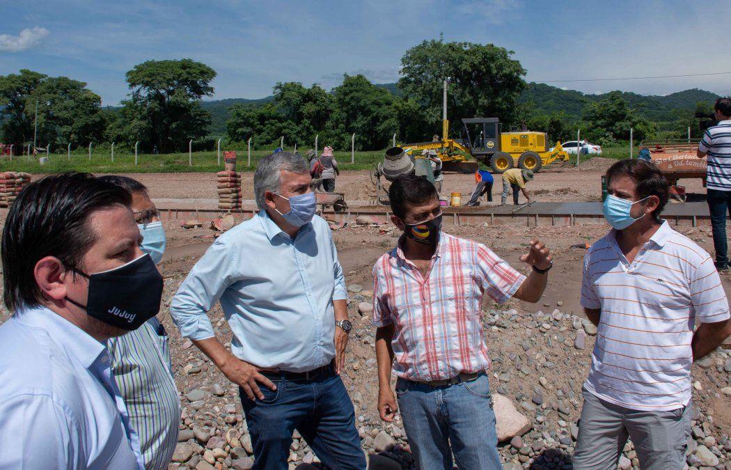 Morales recorrió obras para el desarrollo comercial y productivo