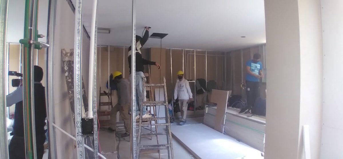 Las obras de Arquitectura para nueva residencia de médicos se desarrollan en el último piso del Hospital Dr. Héctor Quintana.