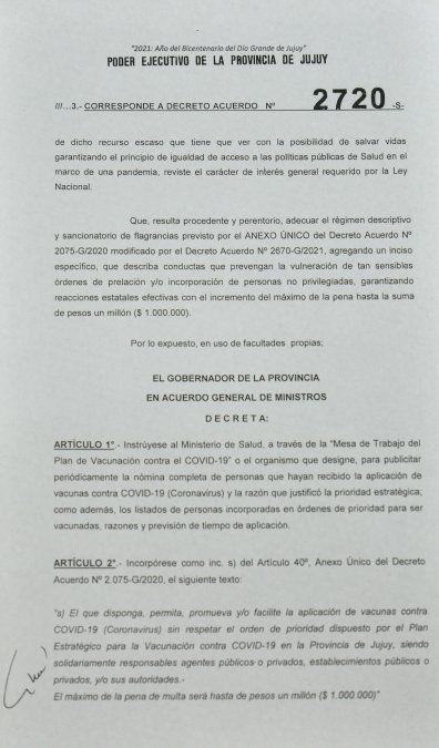Morales: Quiero que se publiquen las listas de personas vacunadas en Jujuy