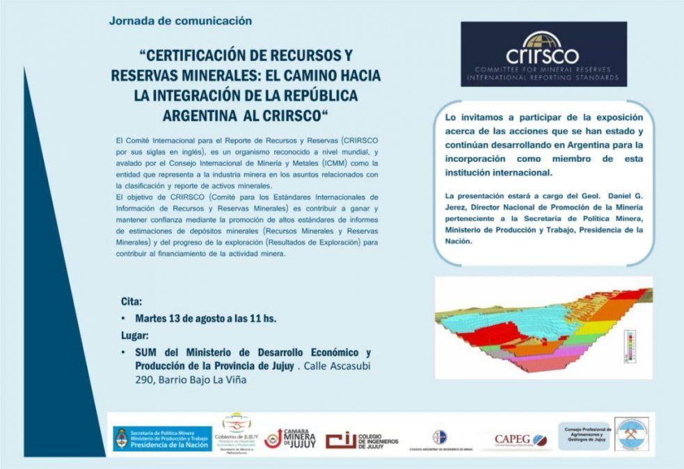 Certificación de recursos y reservas minerales