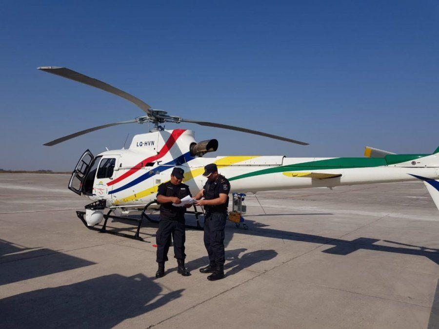 El helicóptero provincial se suma a la búsqueda de la turista japonesa