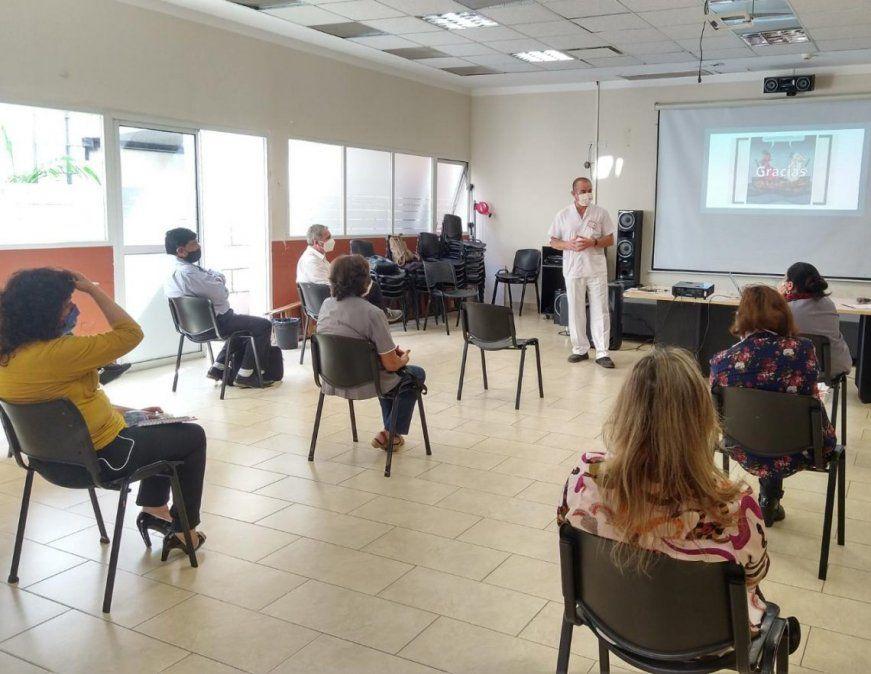 Coronavirus: capacitan a personal del ISJ en medidas de bioseguridad
