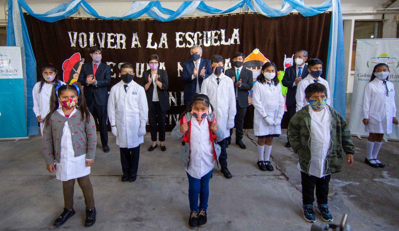 Gerardo Morales inauguró el Ciclo Lectivo 2021 presencial