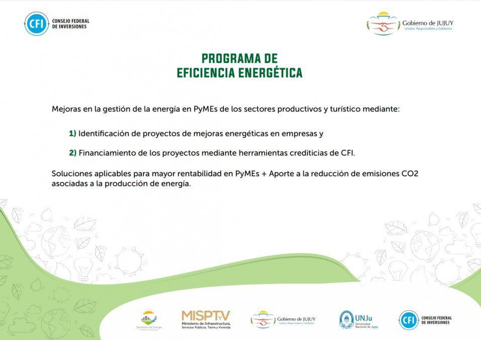 Objetivos del Programa de Eficiencia Energética.
