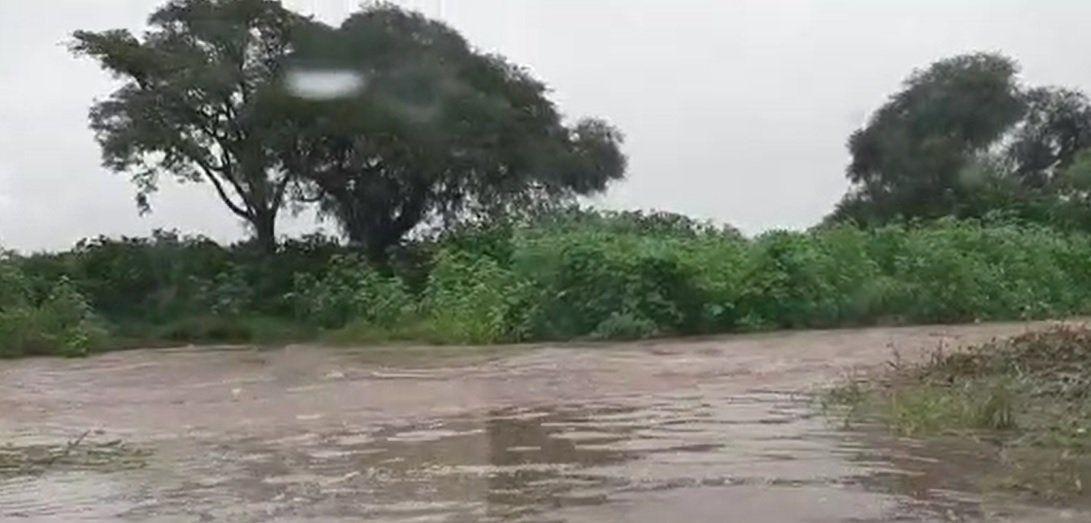 Vialidad de la Provincia asistió con maquinaria propia ante el desborde del arroyo Los Sauces sobre RP 22