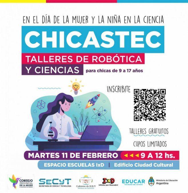 """Taller """"CHICASTEC"""" para celebrar el Día Internacional de la mujer y la niña en la ciencia"""