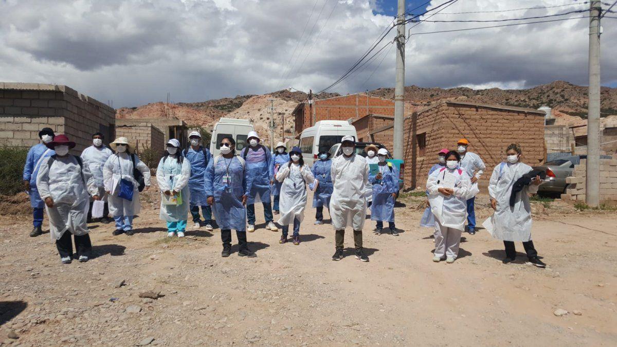 Rastrillaje sanitario se focalizó en 6 barrios de Humahuaca