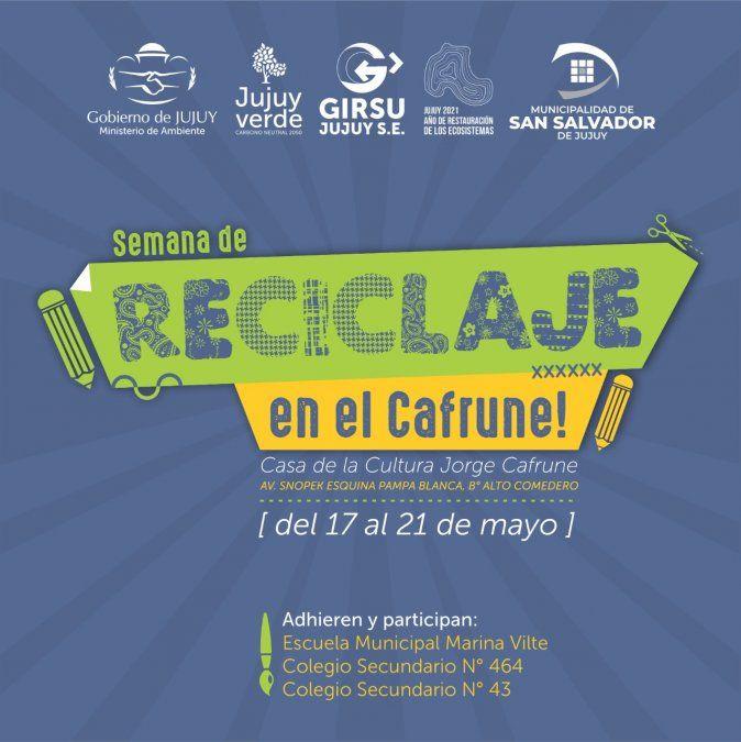Semana del reciclaje en la Casa de la Cultura Jorge Cafrune