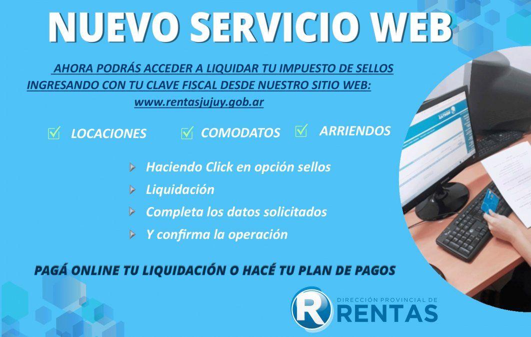 Rentas suma un nuevo servicio web