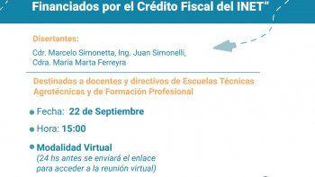 """Capacitación en """"Formulación de Proyectos Financiados por el Crédito Fiscal del INET"""""""