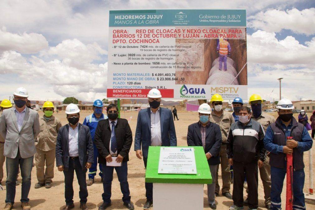 Agua Potable inicia una importante obra de red de cloacas en Abra Pampa