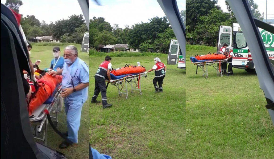 Se rescató un paciente de Alto Calilegua gracias al helicoptero de la Provincia.