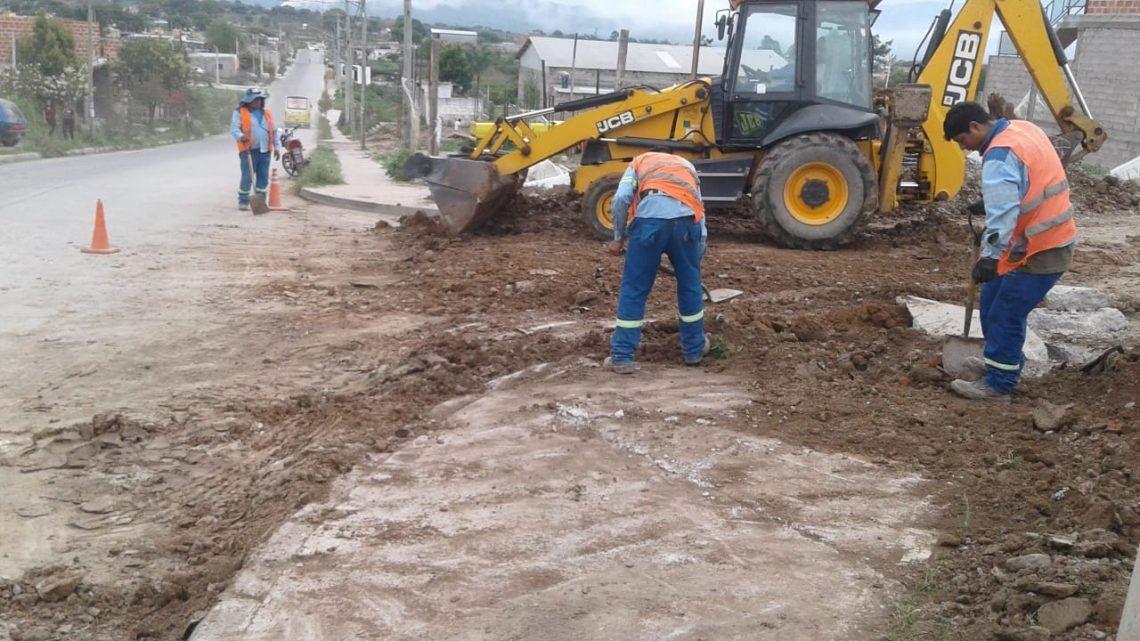Finalizan nueva red de agua potable en el barrio 17 Hectáreas de Alto Comedero