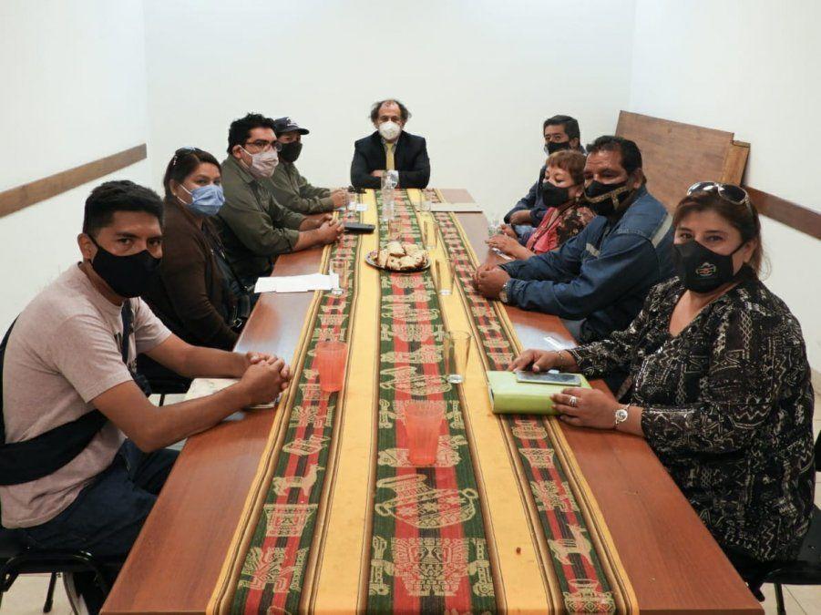 Reunión en el ministerio de Trabajo y Empleo