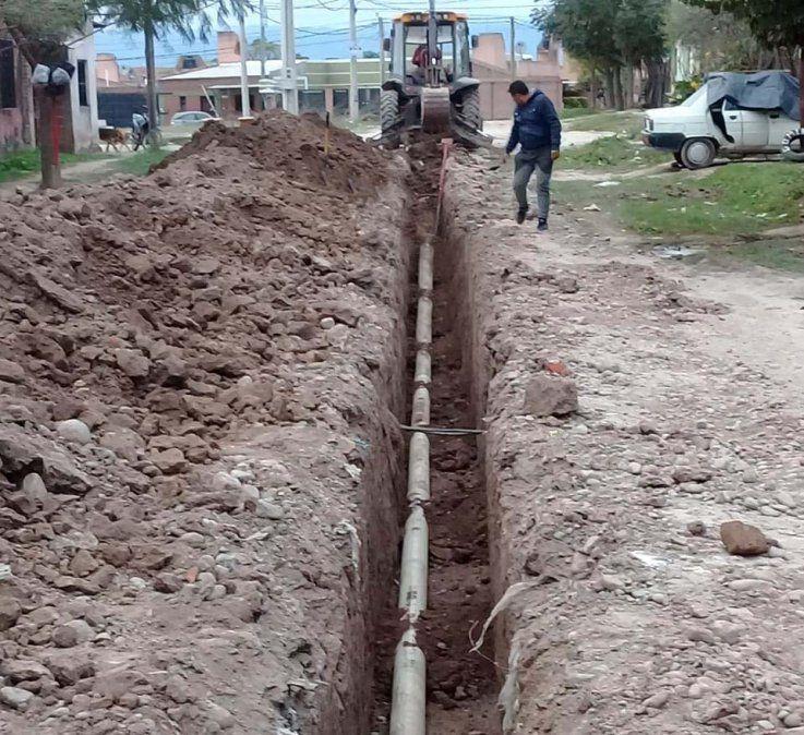Nueva red de cloacas para barrio de San Pedro
