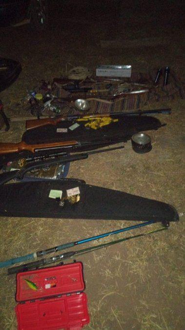 Operativo de la Policía Rural: Secuestran armas y animales silvestres faenados