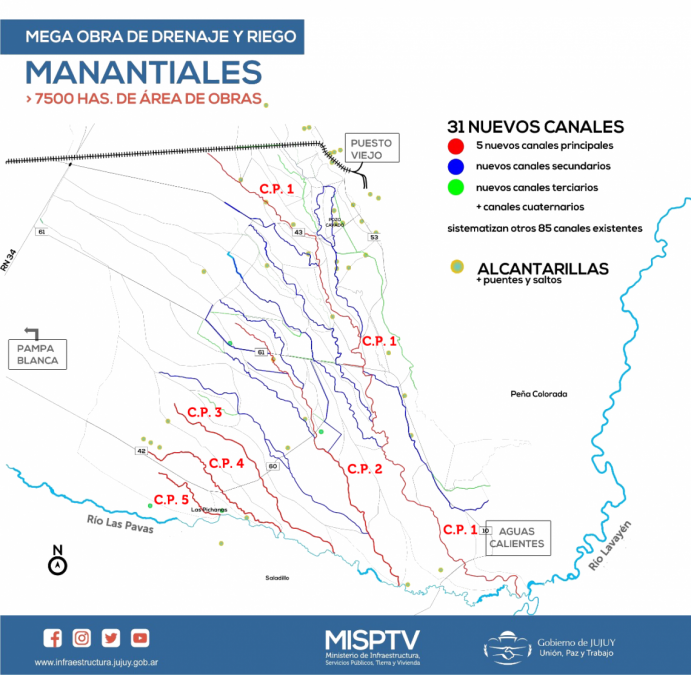 Nueva inspección a la mega obra de Manantiales, que avanza a ritmo adecuado