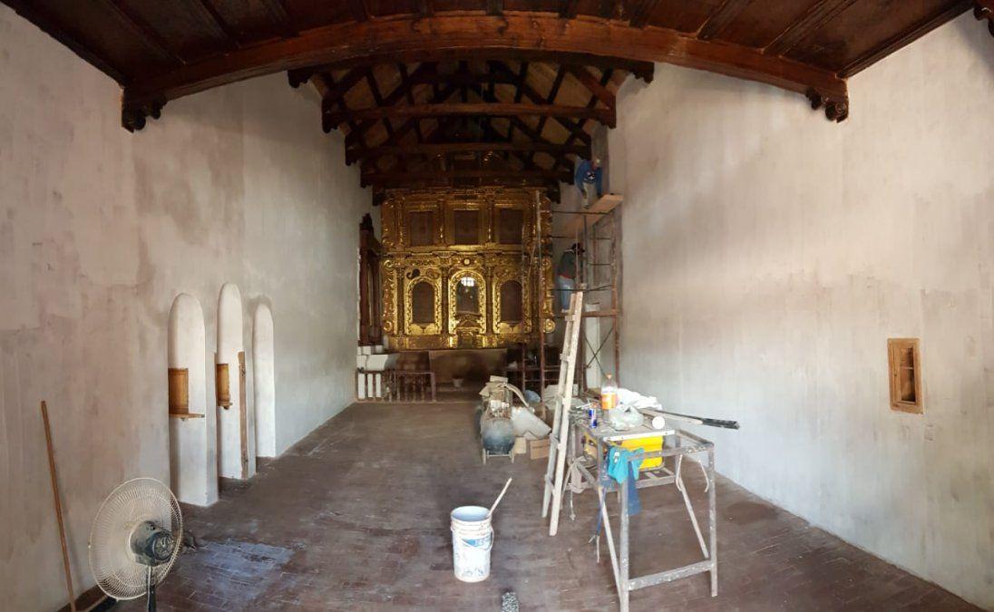 De las obras civiles al interior de la iglesia