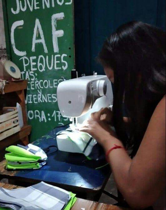 Proyecto sociocomunitario textil del  Potenciar Trabajo se encuentra en funcionamiento en Capital.