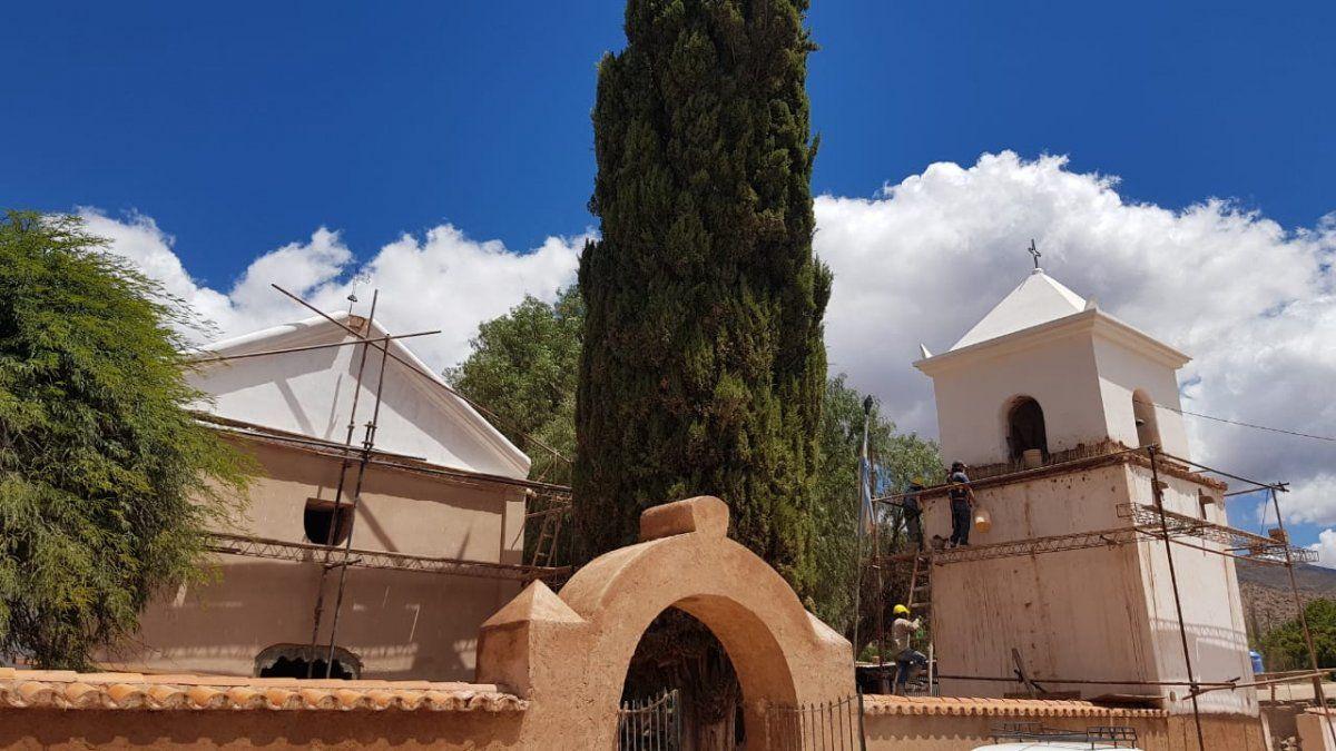 Iglesia de Uquía: destacables obras, con pronta finalización
