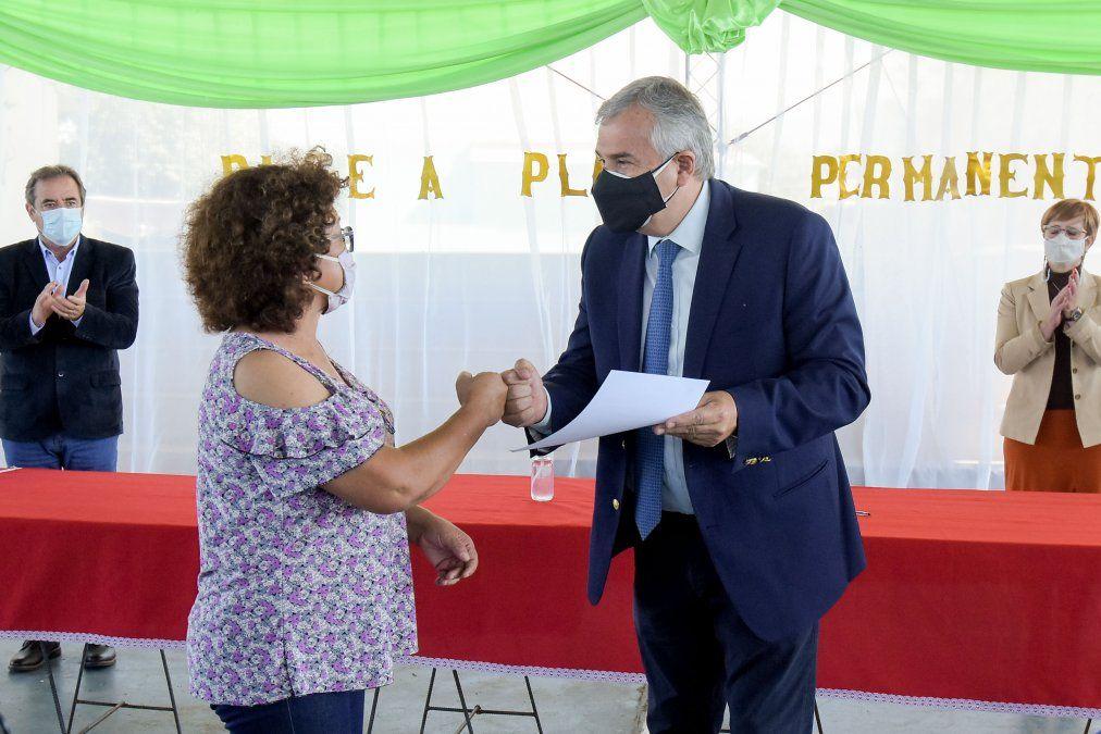 Morales destacó el pase a planta permanente en La Mendieta