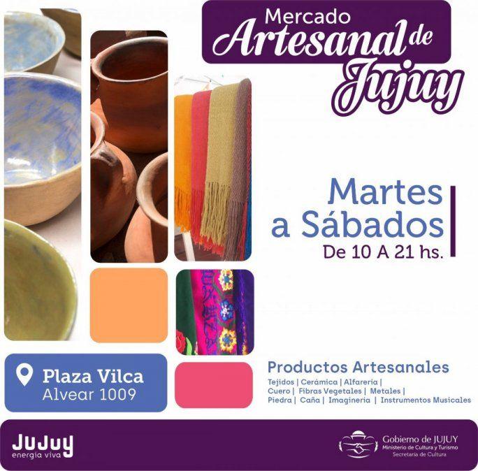 Aumentan los días del  Mercado Artesanal de Jujuy