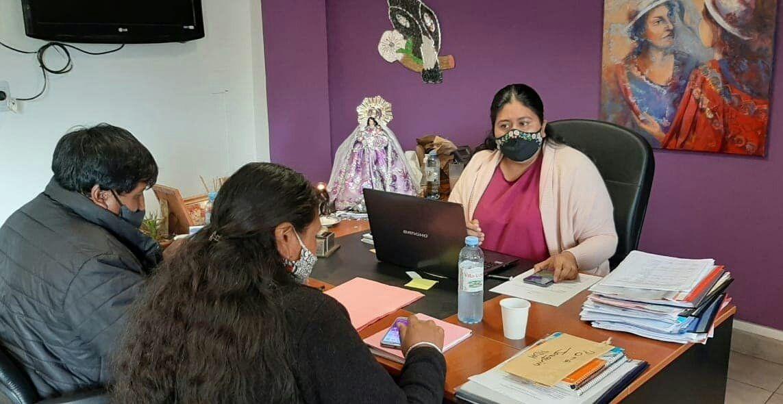 Articulación de Políticas Sociales con funcionarios de la Comisión Municipal de Rinconada