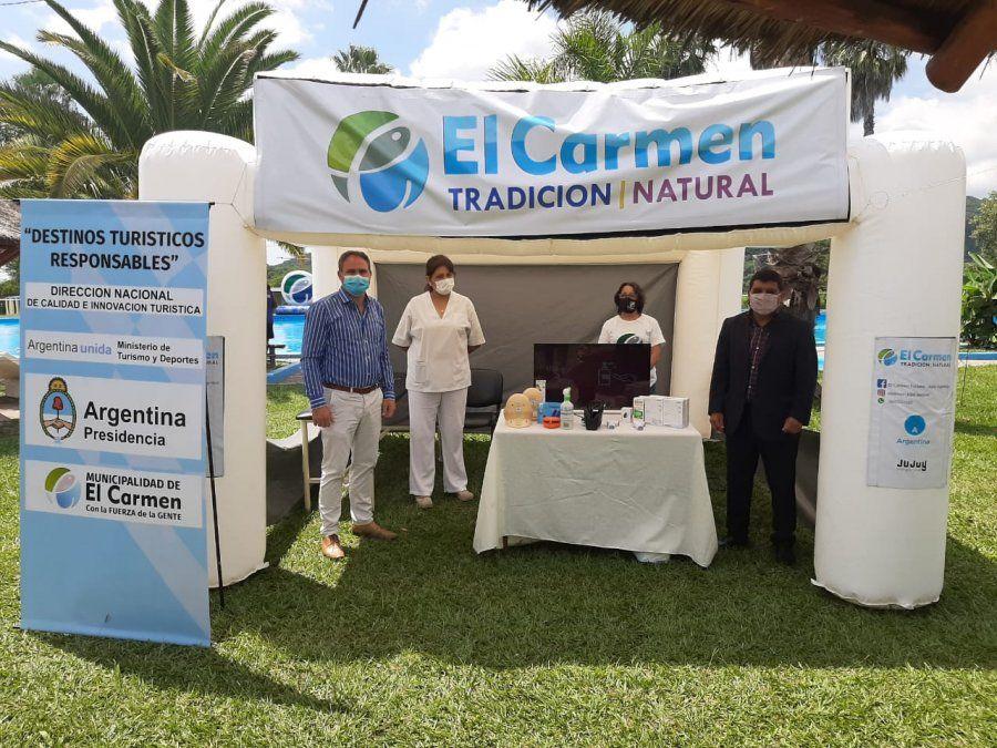 Presentaron equipamiento de promoción y seguridad turística en El Carmen