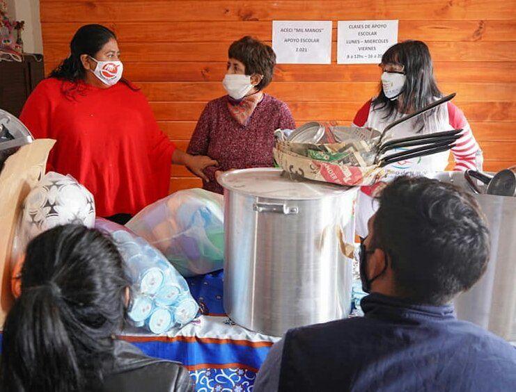 Visita y entrega de insumos al Comedor Comunitario de la Asociación Mil Manos