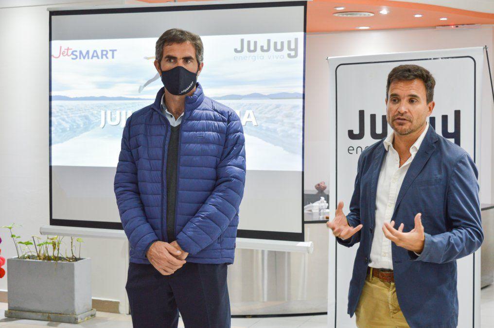 Posadas anunció el arribo del primer vuelo de JetSmart a Jujuy