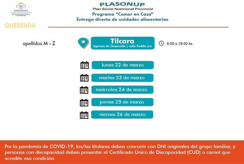 Entrega de Unidades Alimentarias en Tilcara y Maimará.