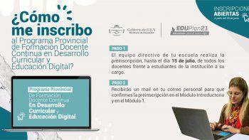 Inscripción al Programa Provincial en Desarrollo Curricular y Educación Digital
