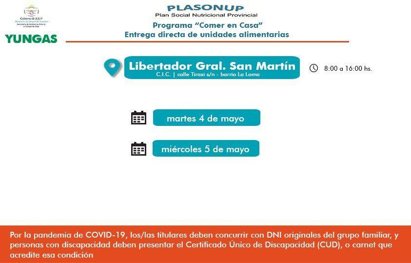 Continúa la entrega de Unidades Alimentarias en Libertador General San Martín