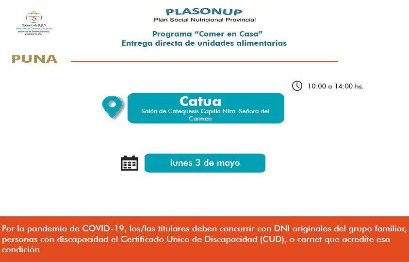 Entrega de Unidades Alimentarias en Quebrada y Puna