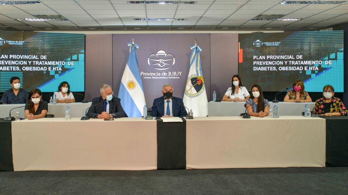 Morales presentó el Plan Provincial de Diabetes, Obesidad e Hipertensión Arterial
