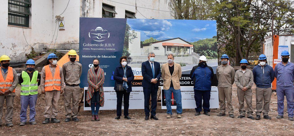 Comenzó la construcción del jardín maternal de la escuela Pucarita