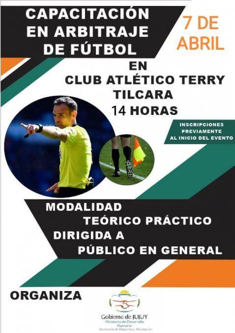 Se invita a la Capacitación en Arbitraje de Futbol en Tilcara