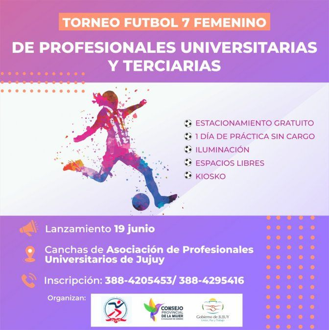 Torneo Fútbol 7 Femenino: Inscribite y Participá