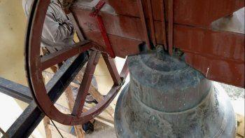 Infraestructura reparó la histórica campana de la Iglesia Catedral