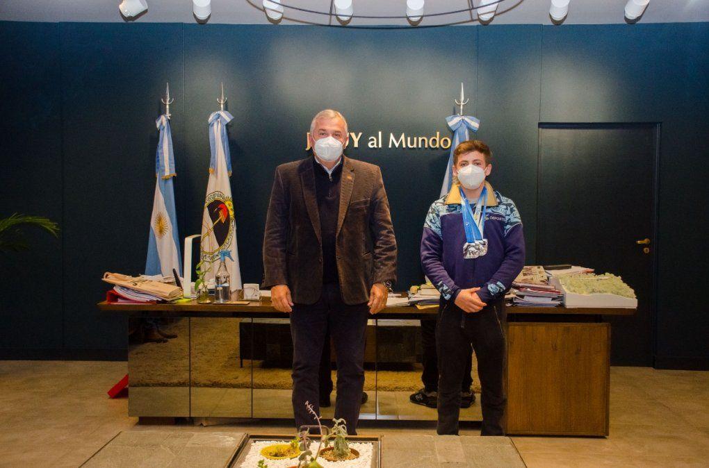Morales recibió a Santiago Ferrari