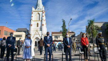 Gerardo Morales encabezó el acto central en conmemoración a la Revolución de Mayo