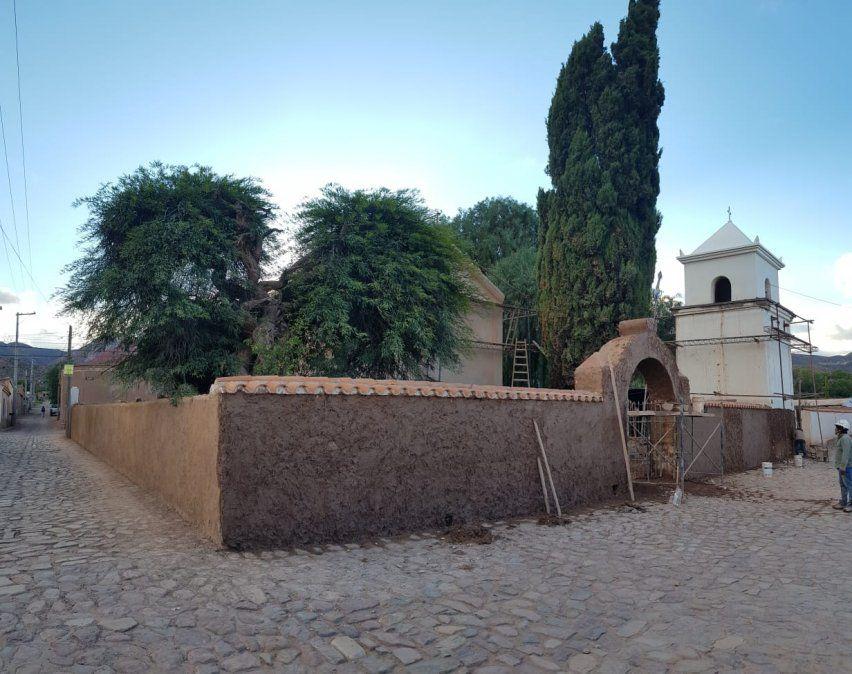 Las obras en Uquía renovaron visuales alrededor de la iglesia
