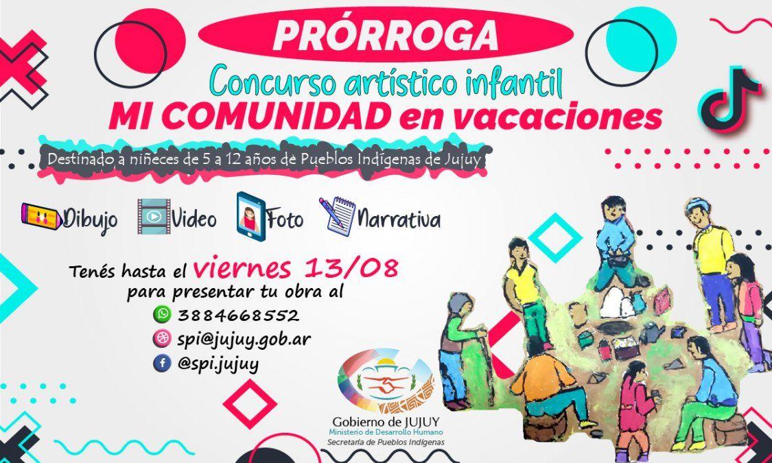 Prórroga para el concurso artístico infantil MI COMUNIDAD